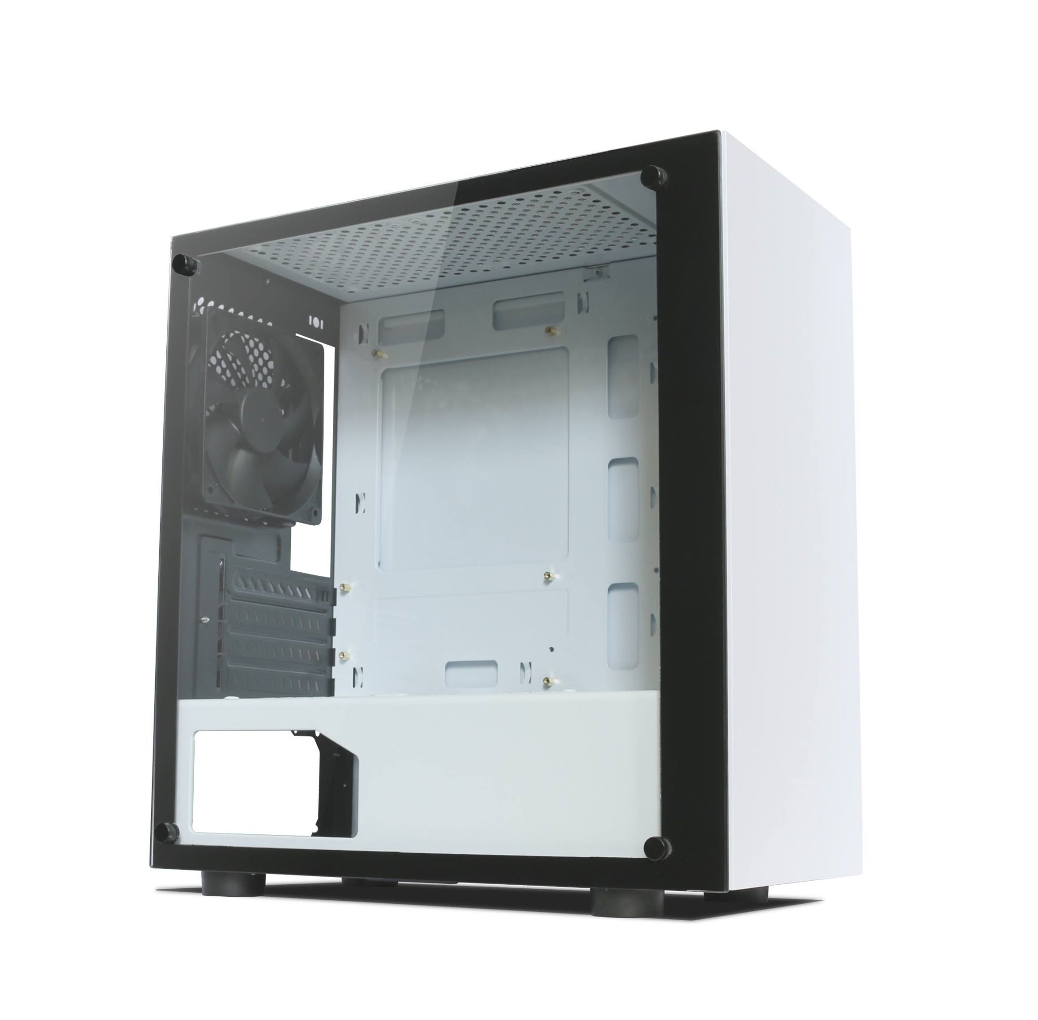 Tecware Nexus M TG Micro ATX Mini Tower Case - White