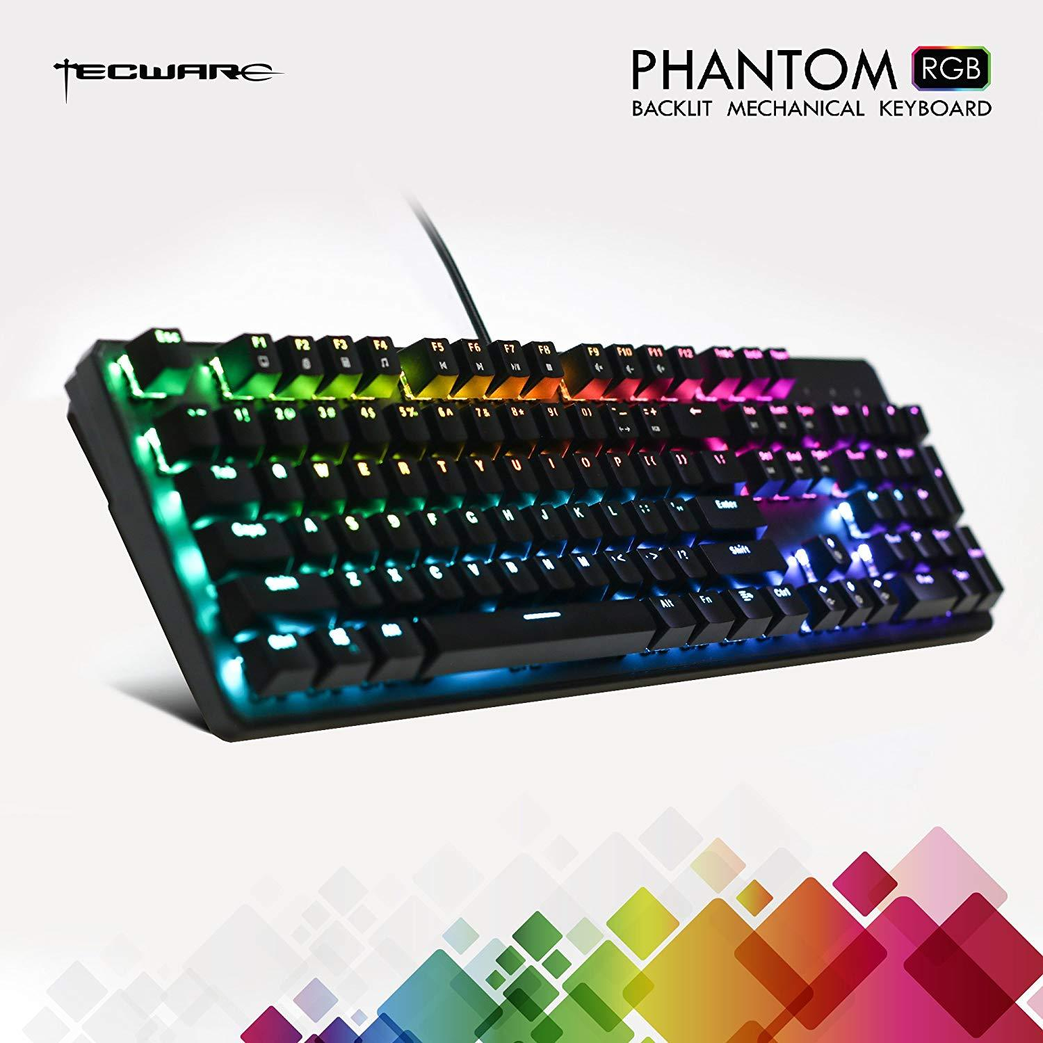Tecware Phantom 104 Key Mechanical RGB Keyboard - Outemu Red
