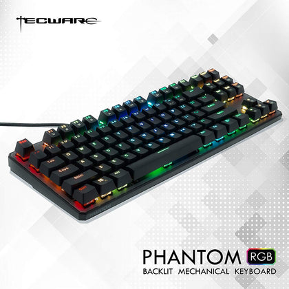 Tecware Phantom 87 Key Mechanical RGB Keyboard - Outemu Blue - Store 974 | ستور ٩٧٤