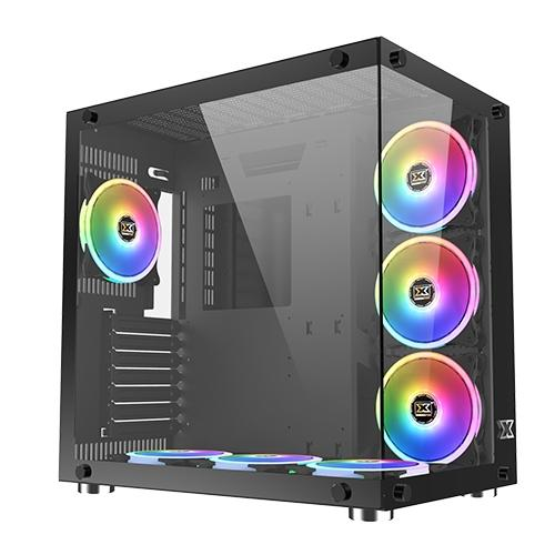 Xigmatek Aquarius Plus ATX Mid Tower Case w/ 7x120mm fans - Black