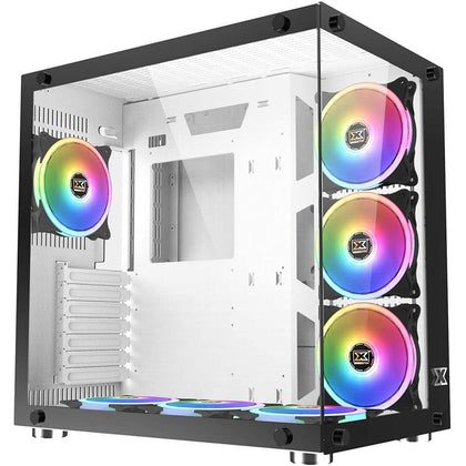 Xigmatek Aquarius Plus ATX Mid Tower Case - White - Store 974 | ستور ٩٧٤