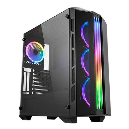 Xigmatek Istanbul Mid Tower Case w/ 4 Fans - Black - Store 974 | ستور ٩٧٤