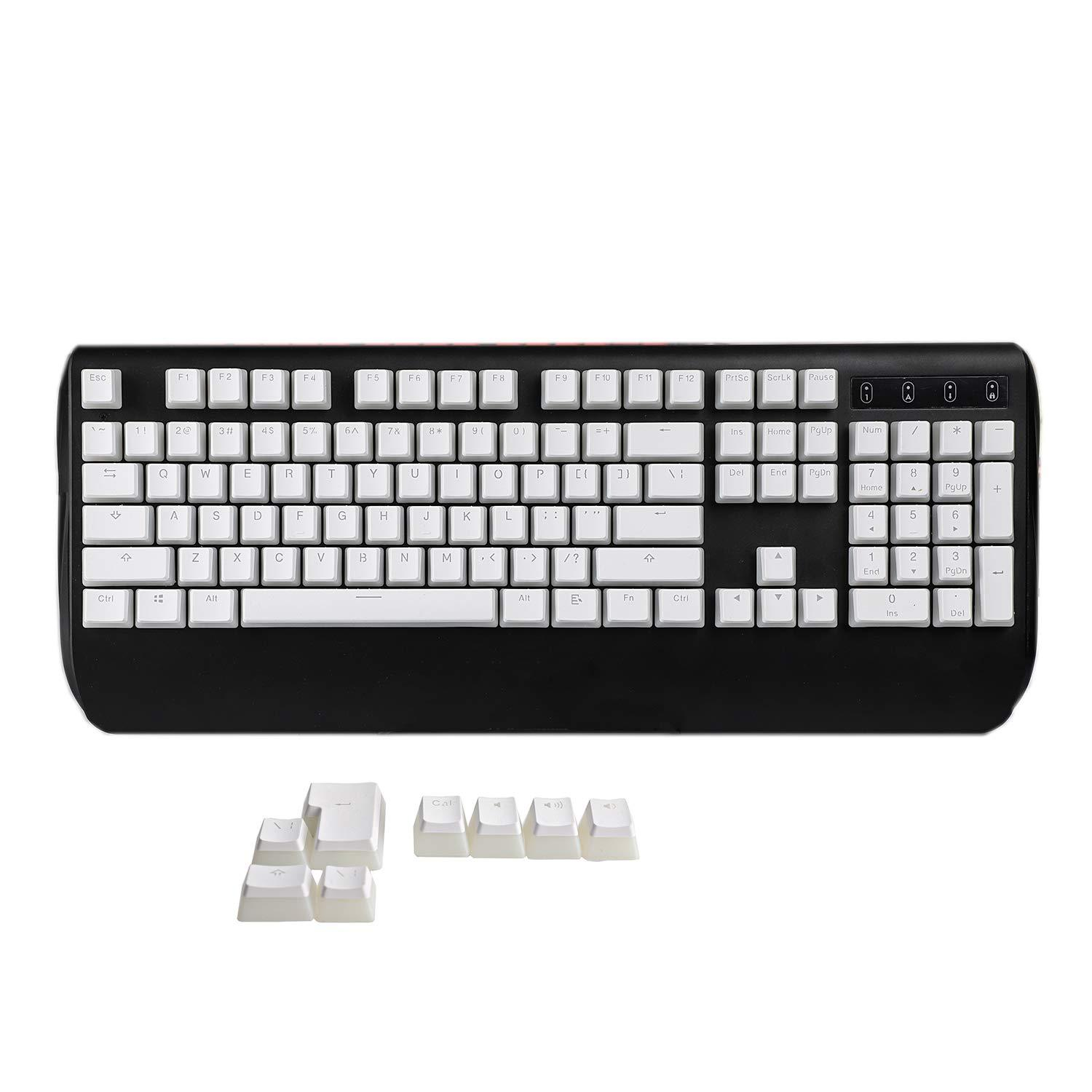 108 Key Cherry MX Keycaps - White