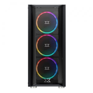 XIGMATEK GRIP (ATX, U3x1&U2x2, Front Mesh & Left TG, 4PCS XDS120 ARGB Fan w LED Switch)