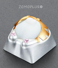 ZOMO Plus Kitty Butt Keycap (Silver + White) - Store 974 | ستور ٩٧٤