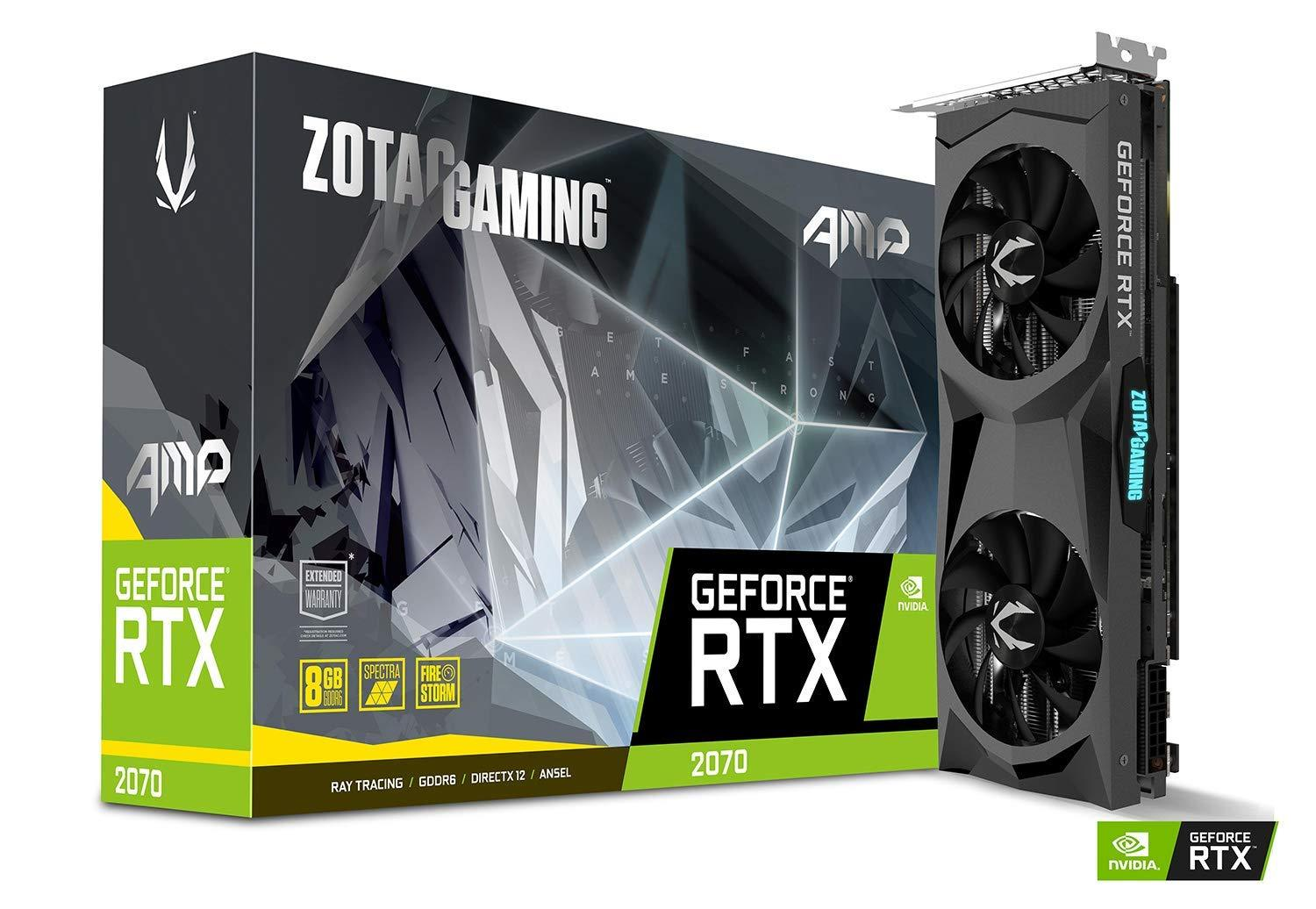 Zotac Gaming GeForce RTX 2070 AMP Edition 11GB GDDR6 PCI-E Gen 4x4 - Graphics Card