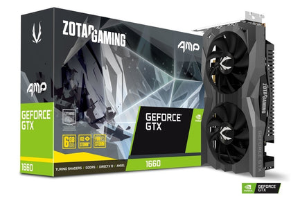 Zotac GTX 1660 AMP 6GB GDDR5 PCI-E Gen 3x4 - Graphics Card - Store 974 | ستور ٩٧٤