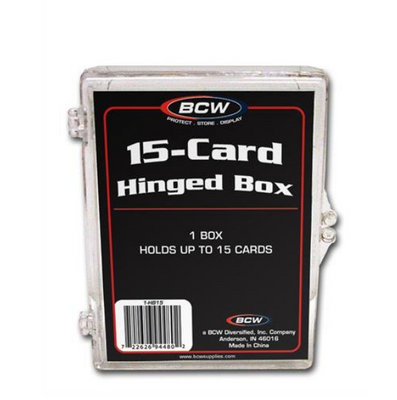 BCW Plastic Storage Cases