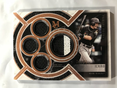 2018 Topps Museum Baseball Primary Pieces Quad Relic Ichiro Patch Card 72/75