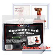 BCW Resealable Bag for vertical Booklet card in holder