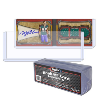 BCW Booklet Card Topload - Horizontal Book (10/PK)
