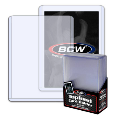 BCW 108 PT Thick Card Topload Holder (10/PK) Jersey Card Top Loader