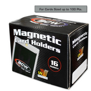 BCW 100 Point Magnetic Sports Card & Trading Card Holder 16 per Box