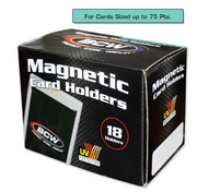 BCW 75 Point Magnetic Sports Card Holder Case (18 per Case)