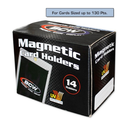 BCW 130 Point Magnetic Sports Card Holder Case (14 per Case)