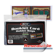 BCW Booklet Card Holder Bags Resealable - Horizontal Booklet Card Bag (100/PK)