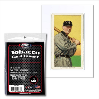 BCW Tobacco Card Mini Card Penny Sleeve (25/PK) Allen & Ginter Mini Card Holder