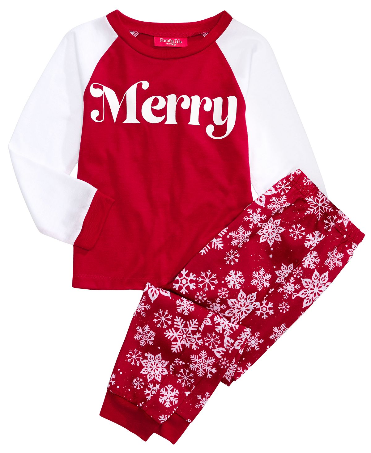 Matching Family Pajamas Kids Merry Pajama Set