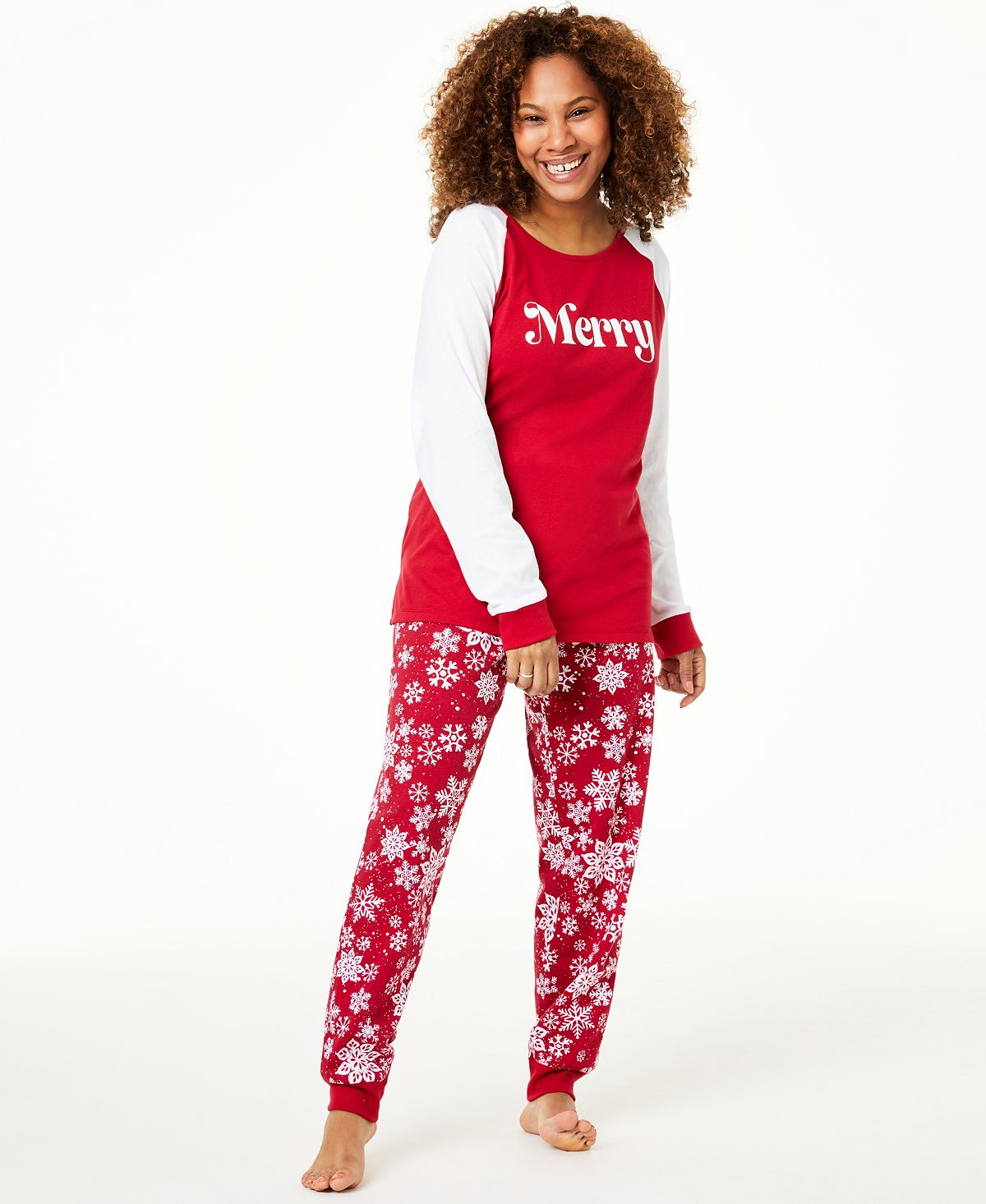 Matching Family Pajamas Wo Merry Pajama Set
