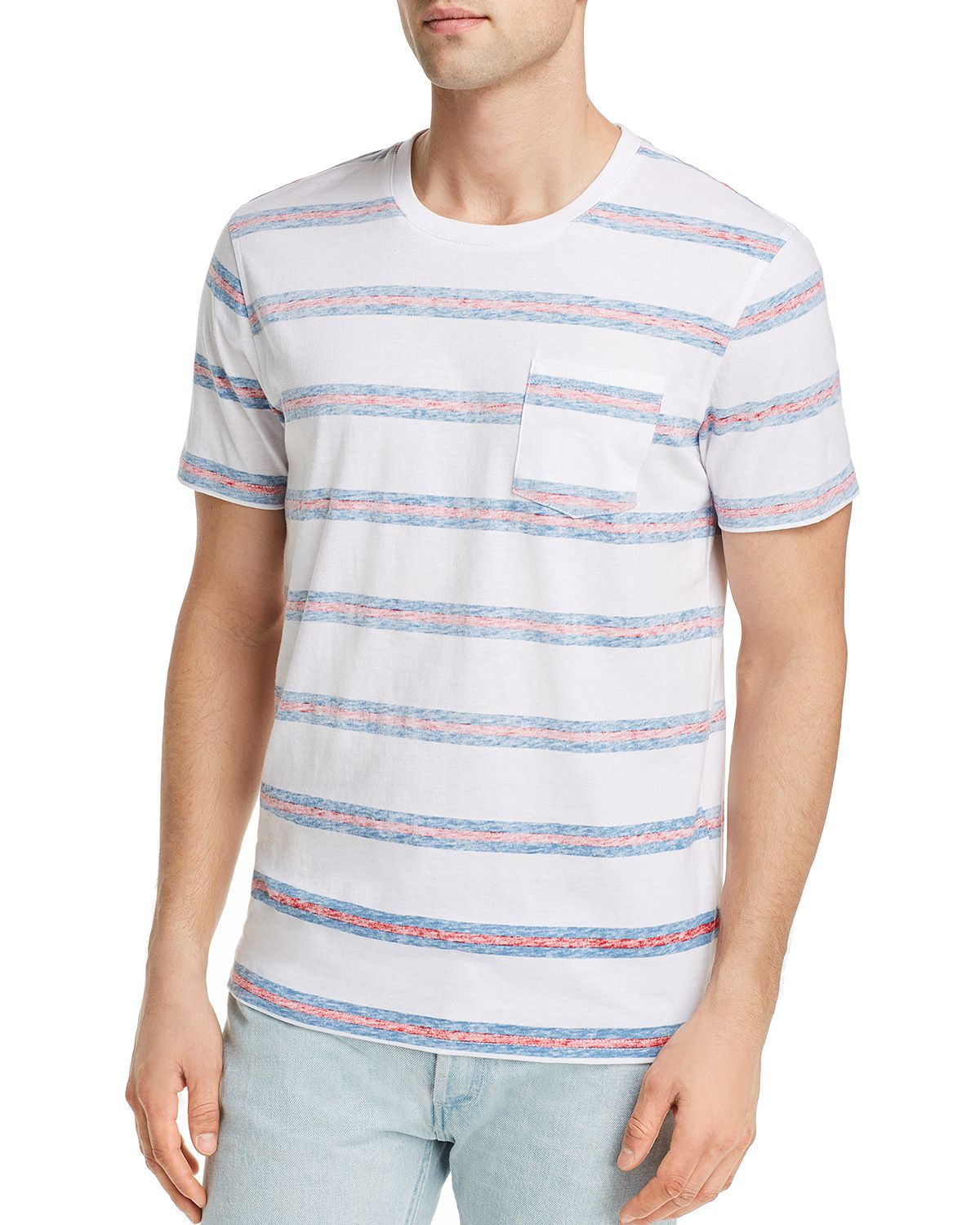 Pacific & Park Reverse-print Striped Tee
