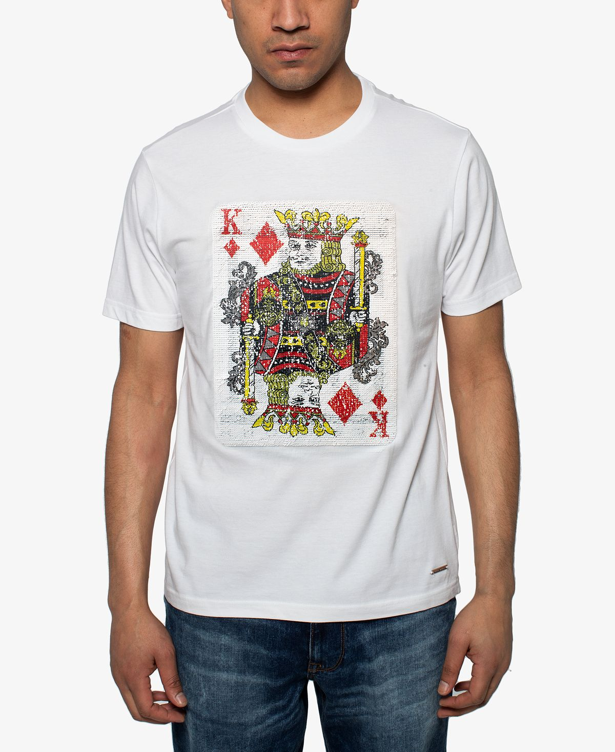 Sean John King Of Hearts Sequin Graphic T-shirt