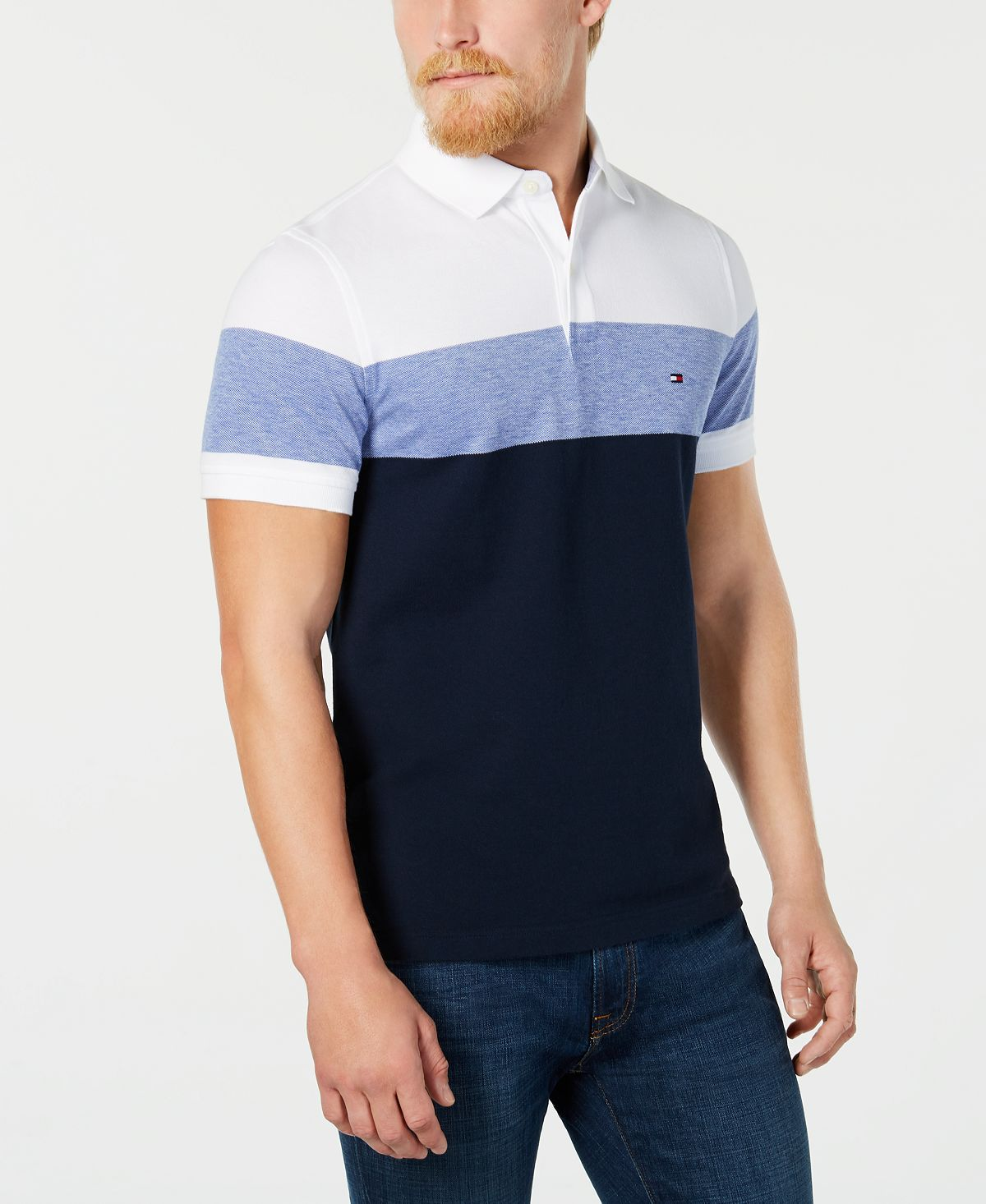 Tommy Hilfiger Dylan Custom Fit Striped Polo