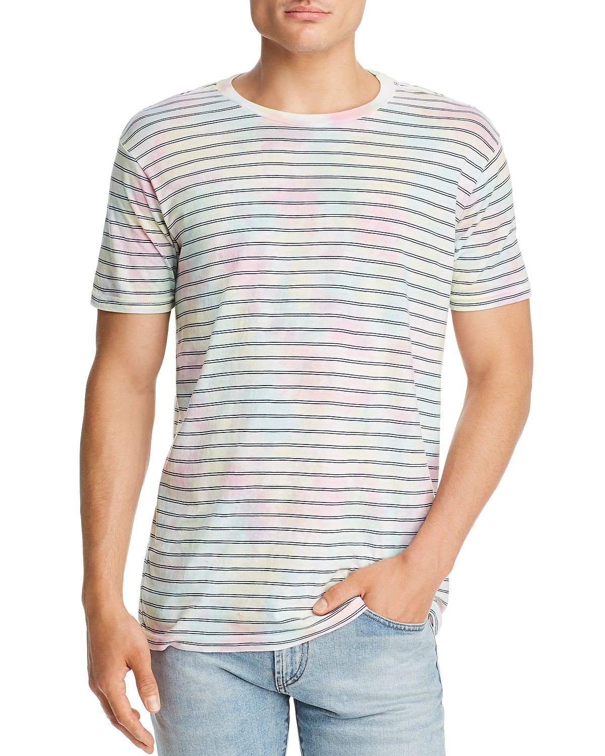 Rvca Automatic Tie-dyed Striped Tee