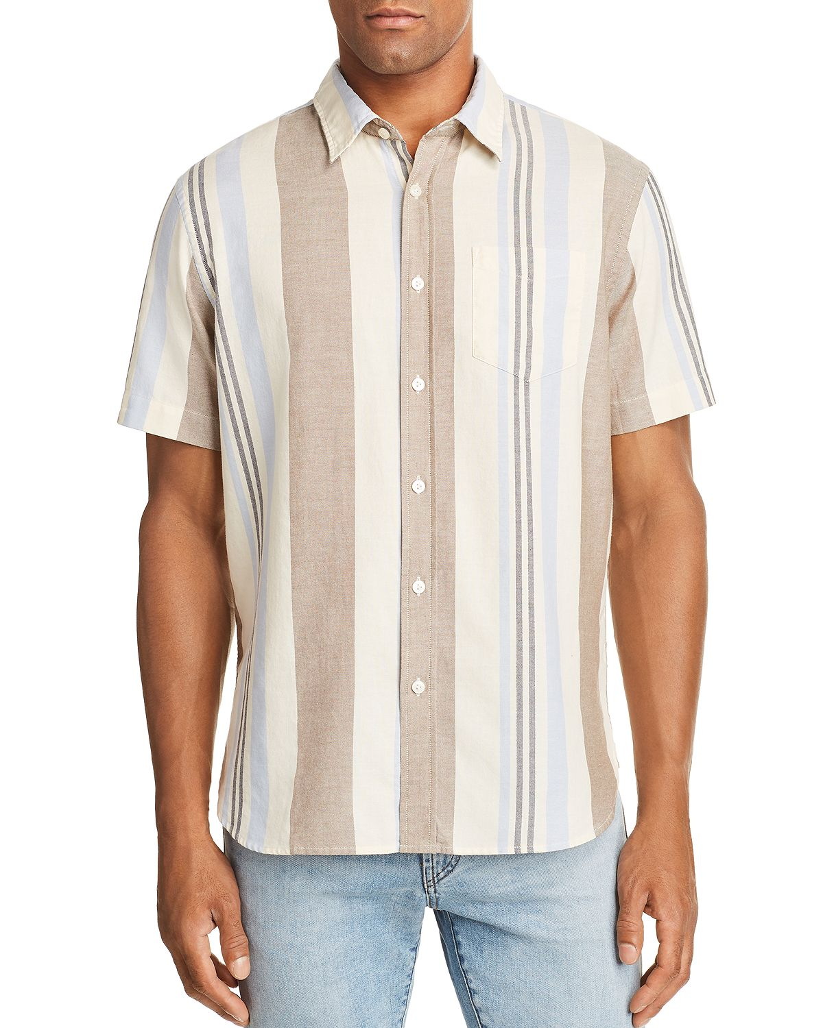 Jachs Ny Variegated-stripe Regular Fit Button-down Shirt