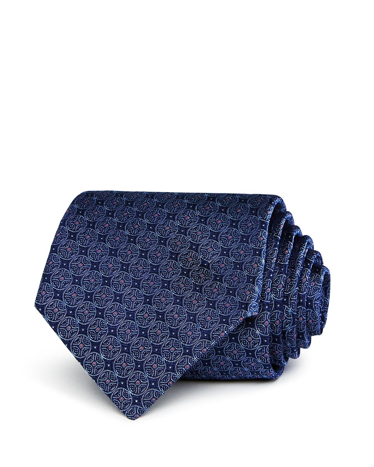 Circle-pattern Silk Classic Tie