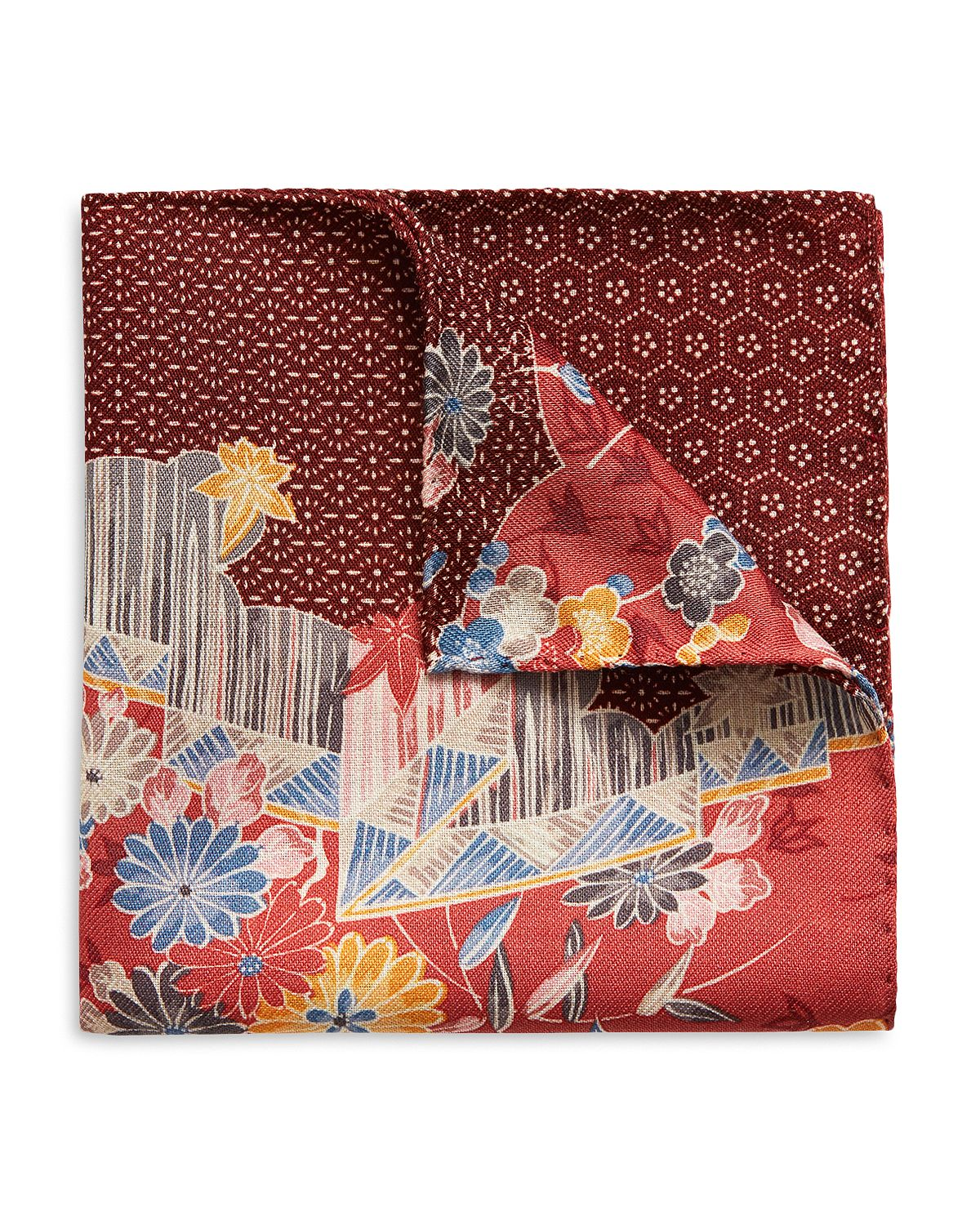 Eton Floral & Medallion Pocket Square