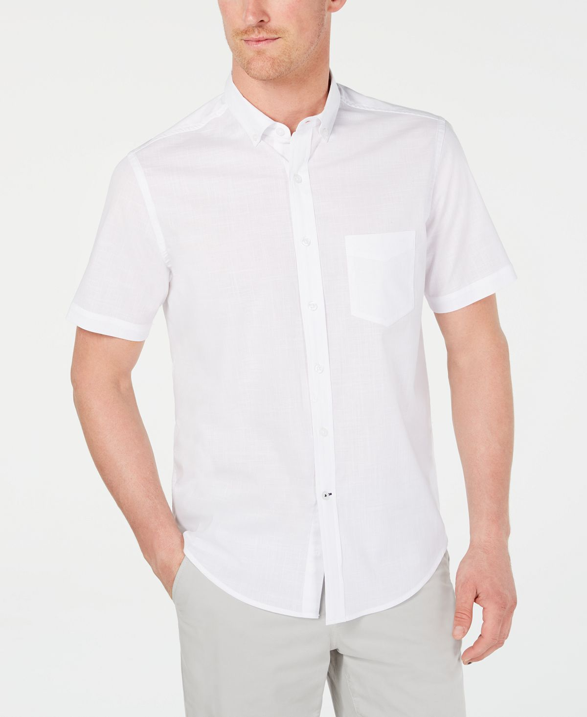 Club Room Stretch Performance Micro-check Shirt