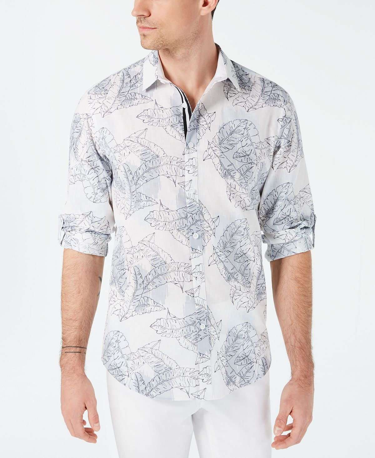 Inc Abstract Floral Shirt