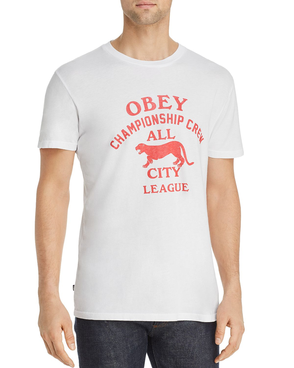 Obey All City Panther Graphic Tee