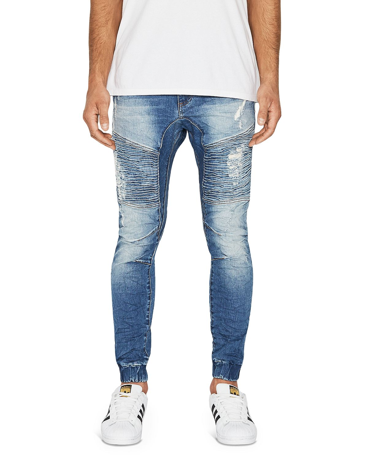 Nxp Destroyer Tapered Fit Jeans In Blue Trash