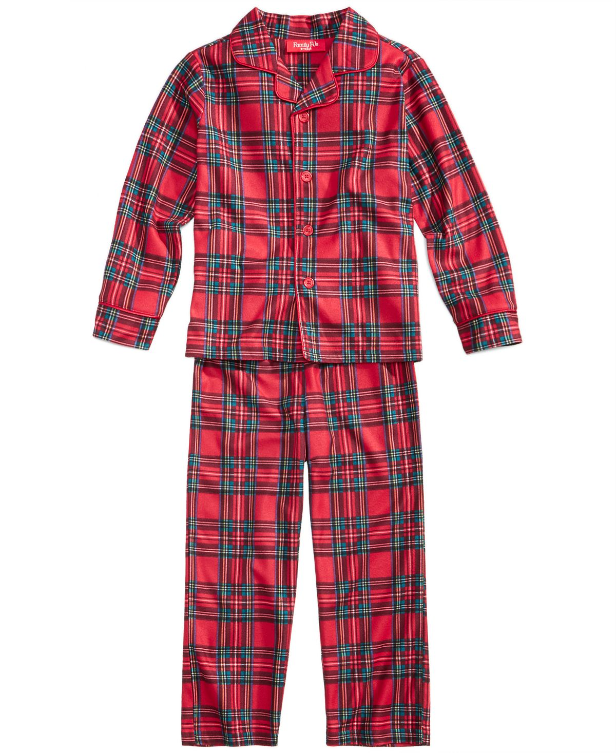 Matching Family Pajamas Kids Brinkley Plaid Pajama Set