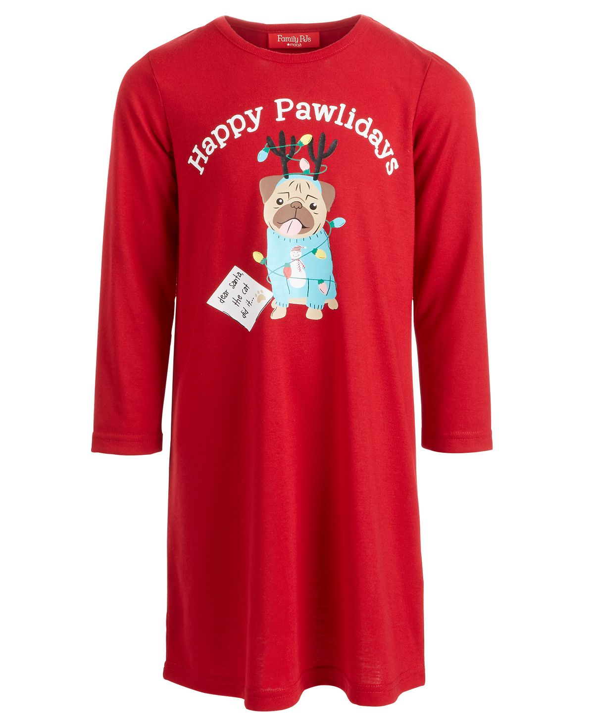 Matching Family Pajamas Kids Happy Pawlidays Sleep Shirt
