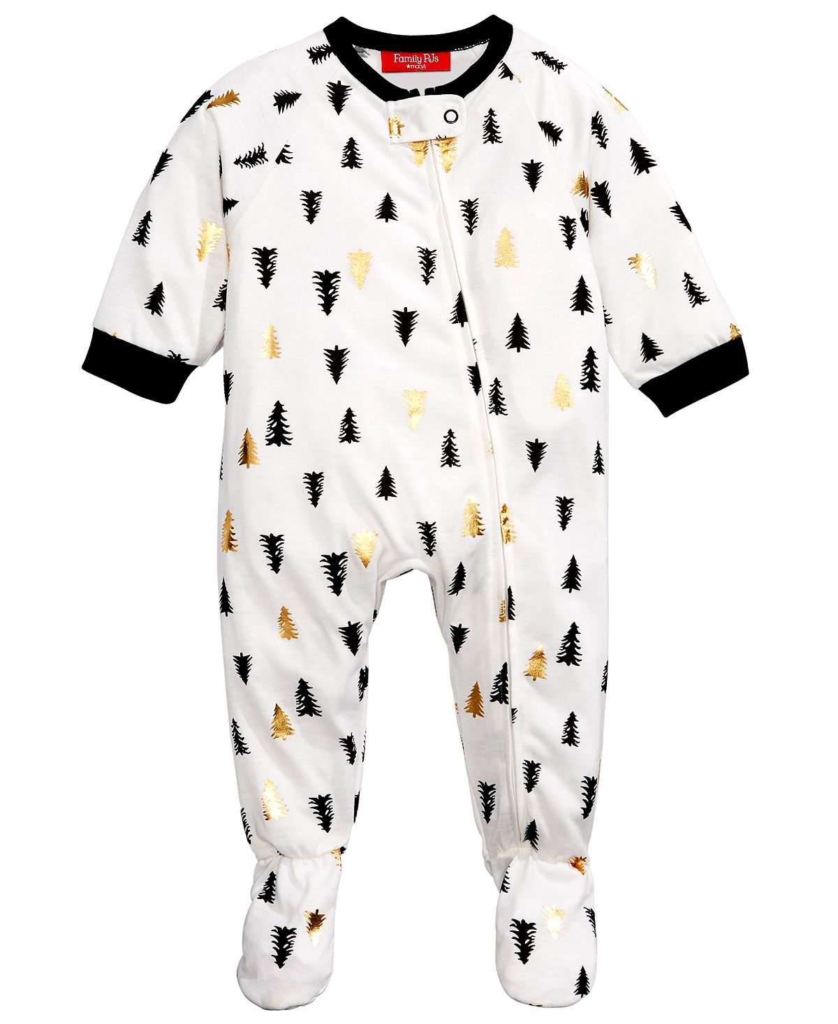 Matching Family Pajamas Baby Tree-print Footed Pajamas