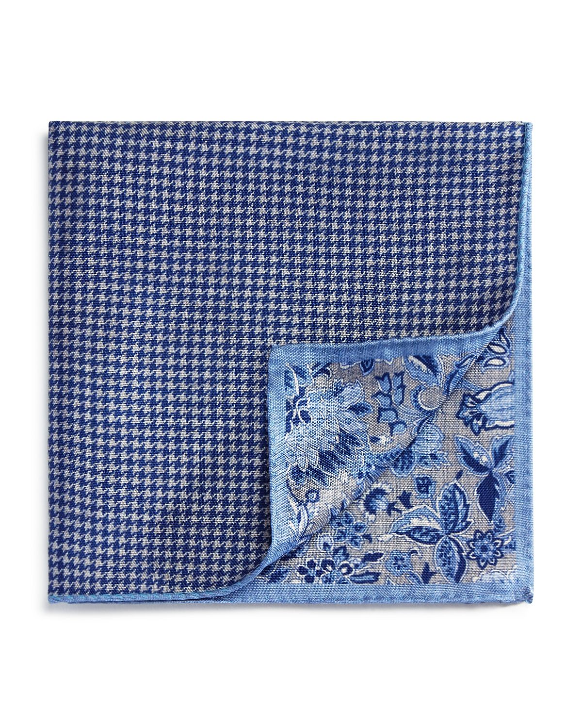 Exploded Floral/houndstooth Pocket Square