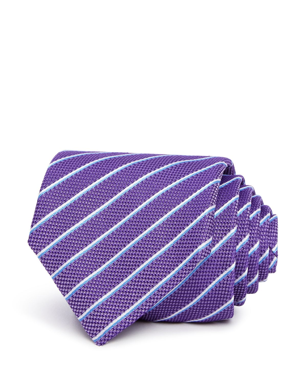 Hugo Textured Stripe Silk Skinny Tie