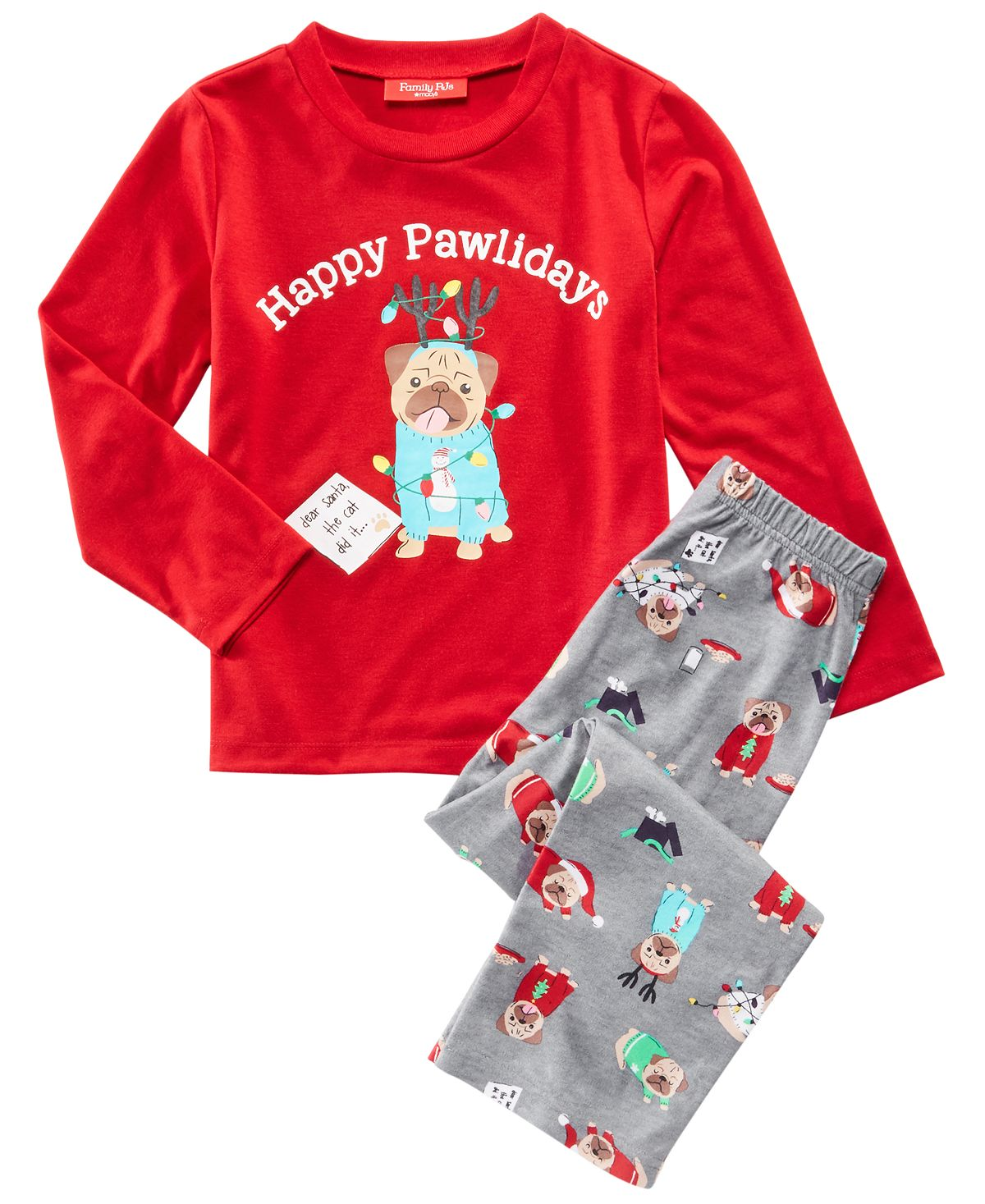 Matching Family Pajamas Kids Happy Pawlidays Pajama Set