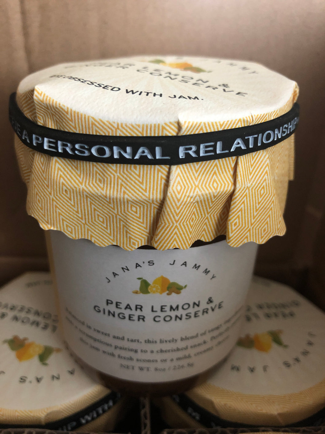 Pear lemon & ginger conserve