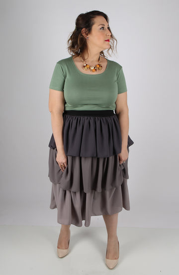 3 TIER RUFFLE SKIRT