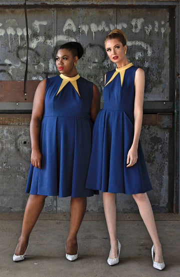 BOWTIE PLEATED DRESS