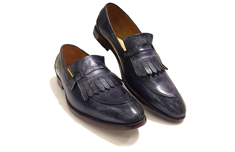 Grid Fringes Loafers