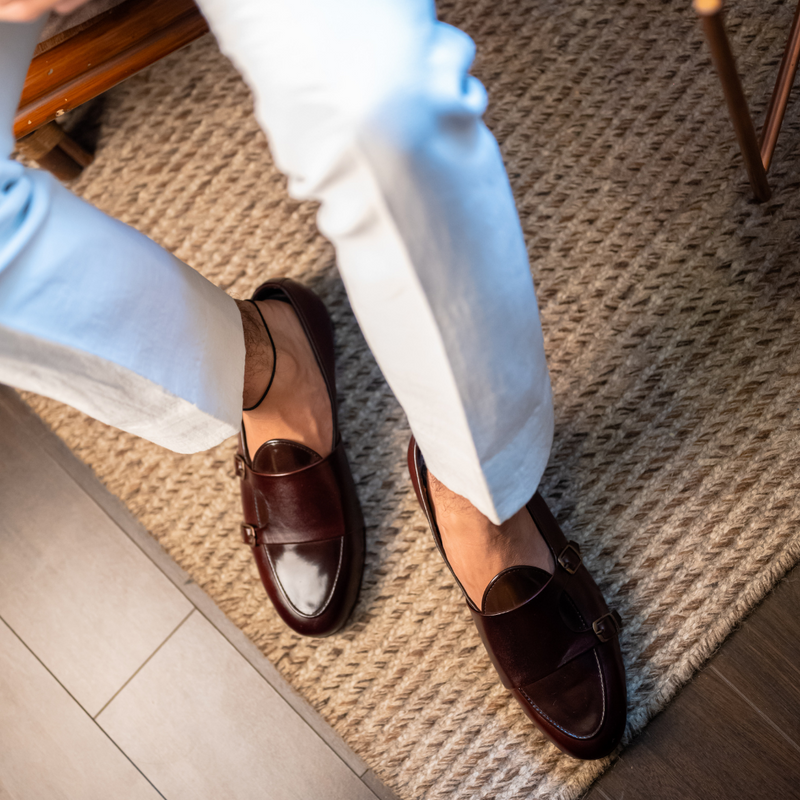 B-Tan Monk Loafers
