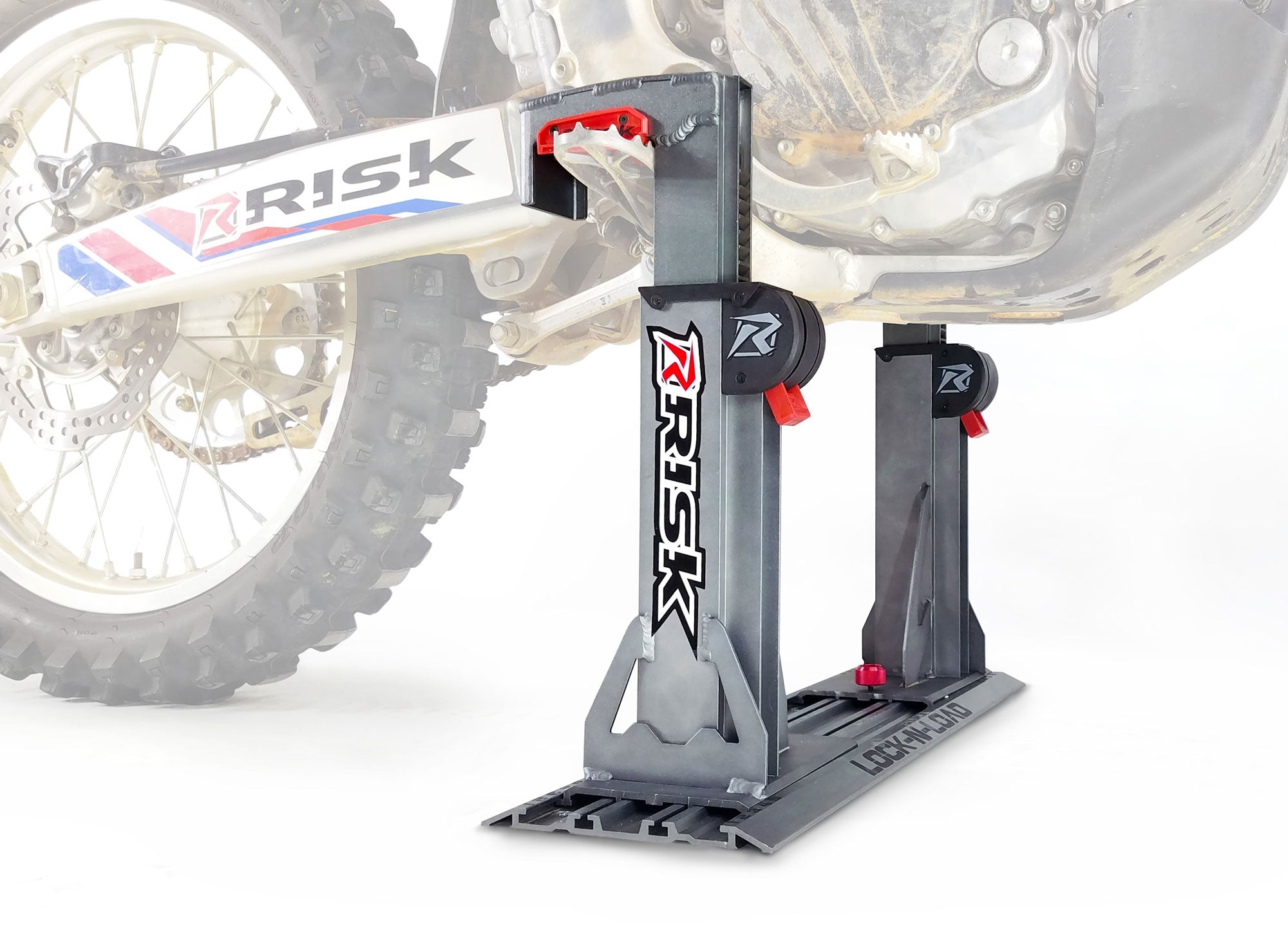 Lock N Load Pro Strapless Moto Transport System By Risk Racing