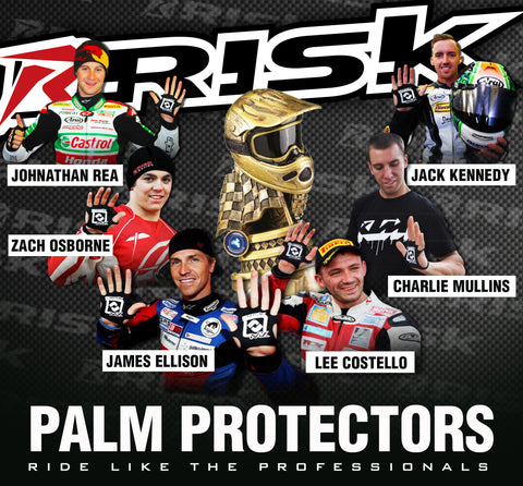 Risk Racing Palm Protectors used by professional racers worldwide