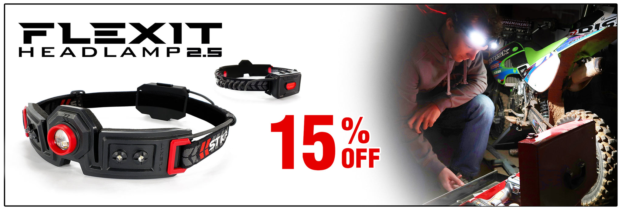 Deal of the Month - 15% off FLEXIT Headlamp 2.5
