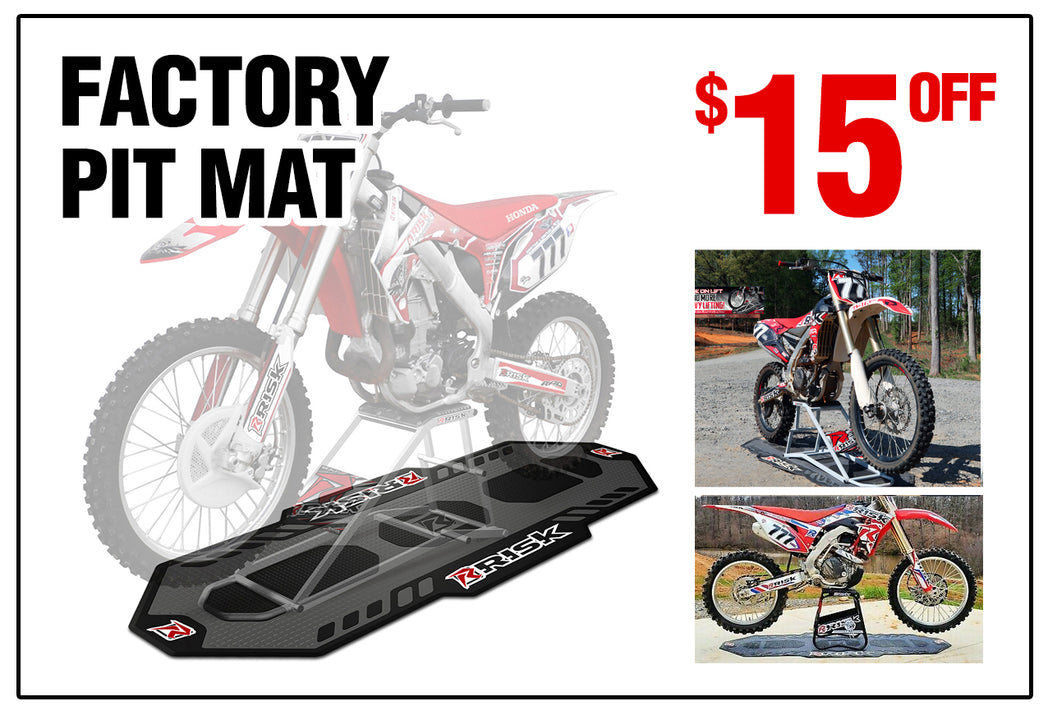 Deal of the Month - 10% Off Risk Racing Factory Pit Mat