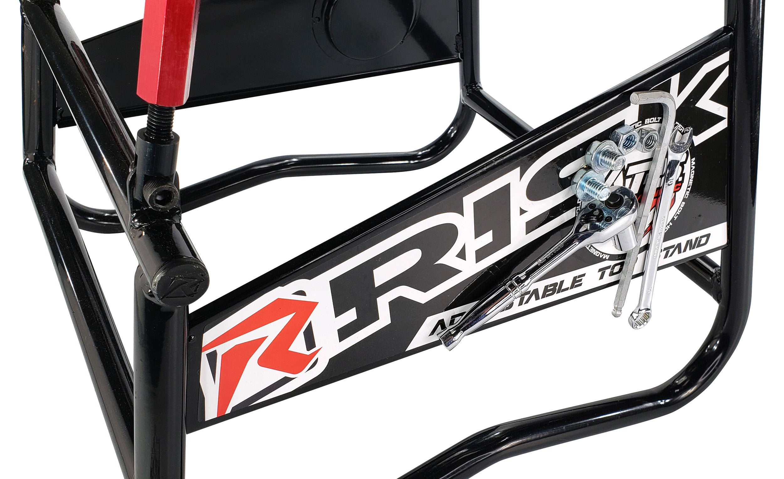 Risk Racing ATS Adjustable Moto Stand with Magnetic Bolt Panel
